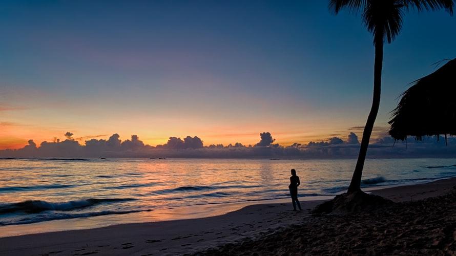 Punta Cana Beach During Sunset