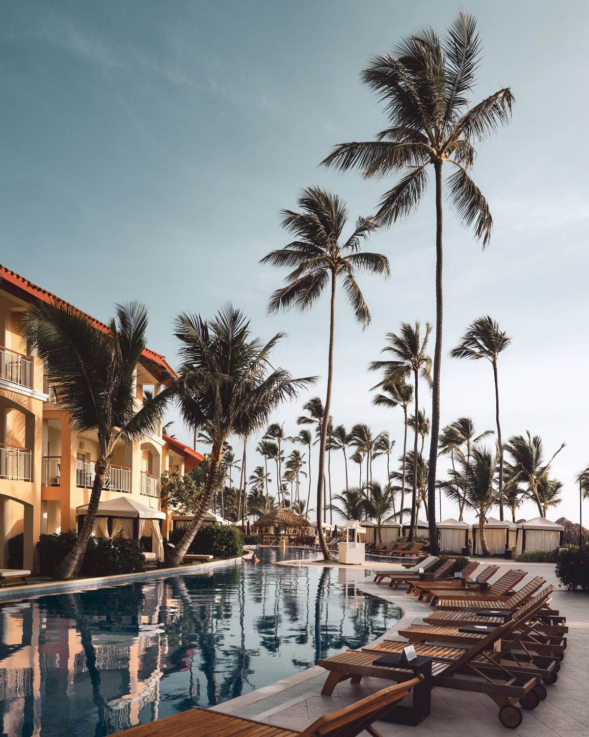 Punta Cana Resort with palm trees