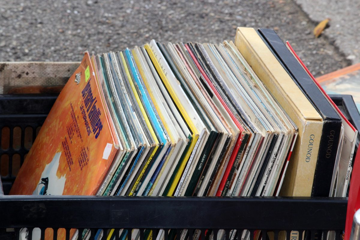 Second hand vinyl records