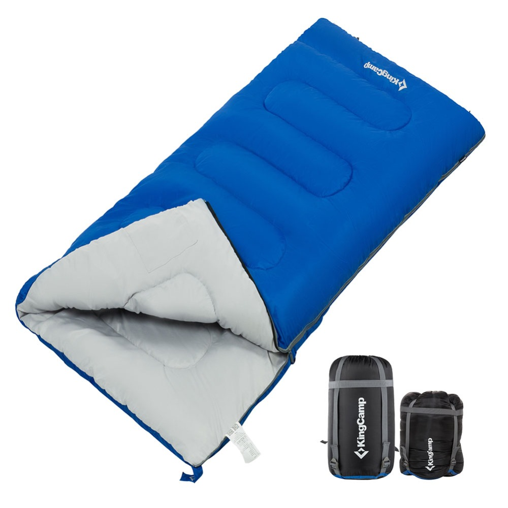 A Kingcamp envelope sleeping bag