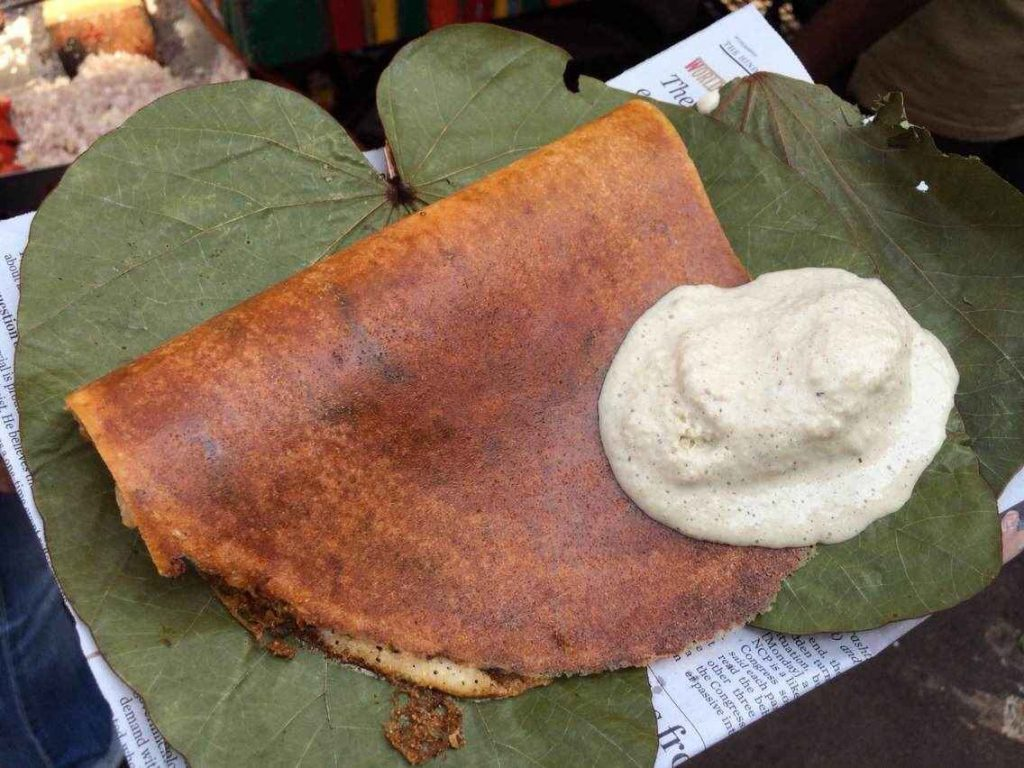 Dosa with Coconut Chutney