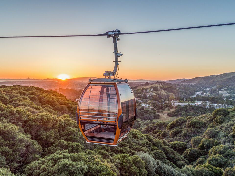 The highlight of California Trail is the 650-feet high Gondola ride over the stunning views of Knowland Park