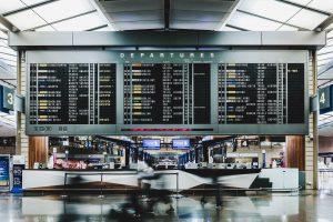 Departure Board at Detroit Airport