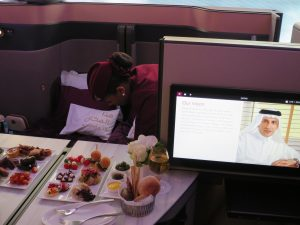 Business Class Seat at Qatar Airways