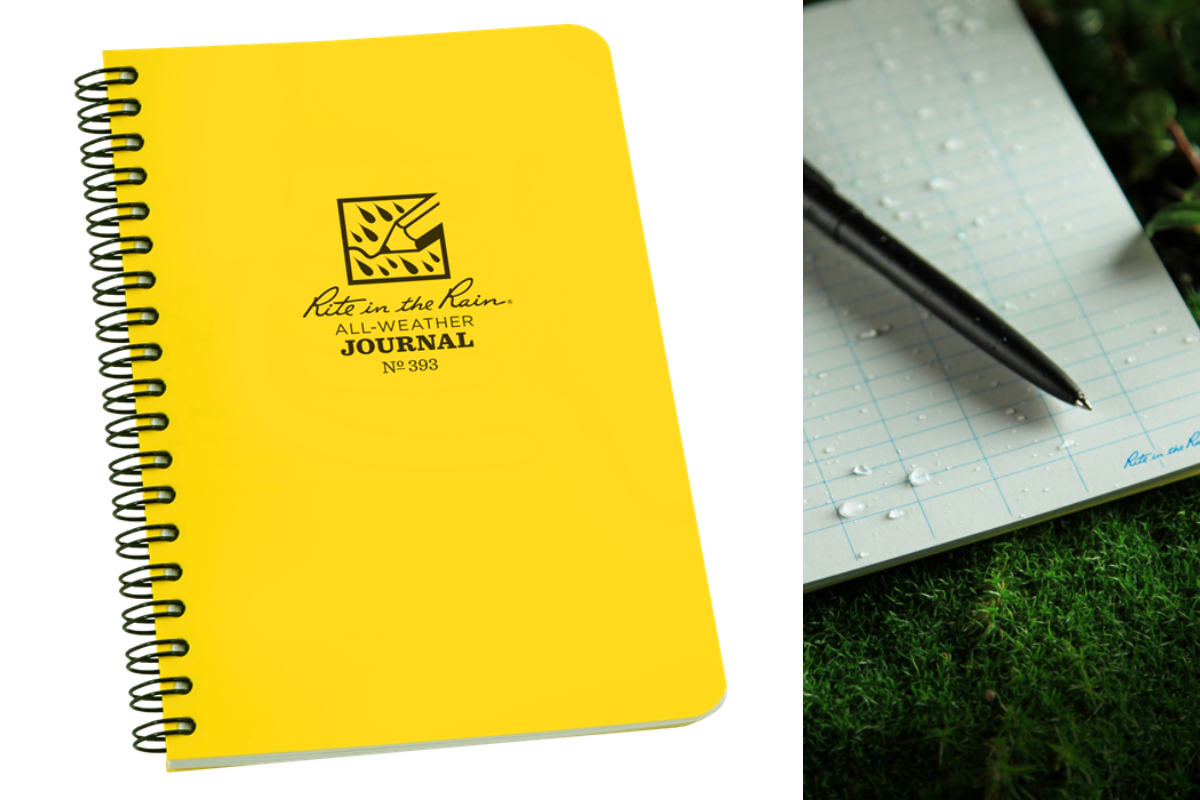 Rite In The Rain Notebook, Travel Journal, Waterproof Journal