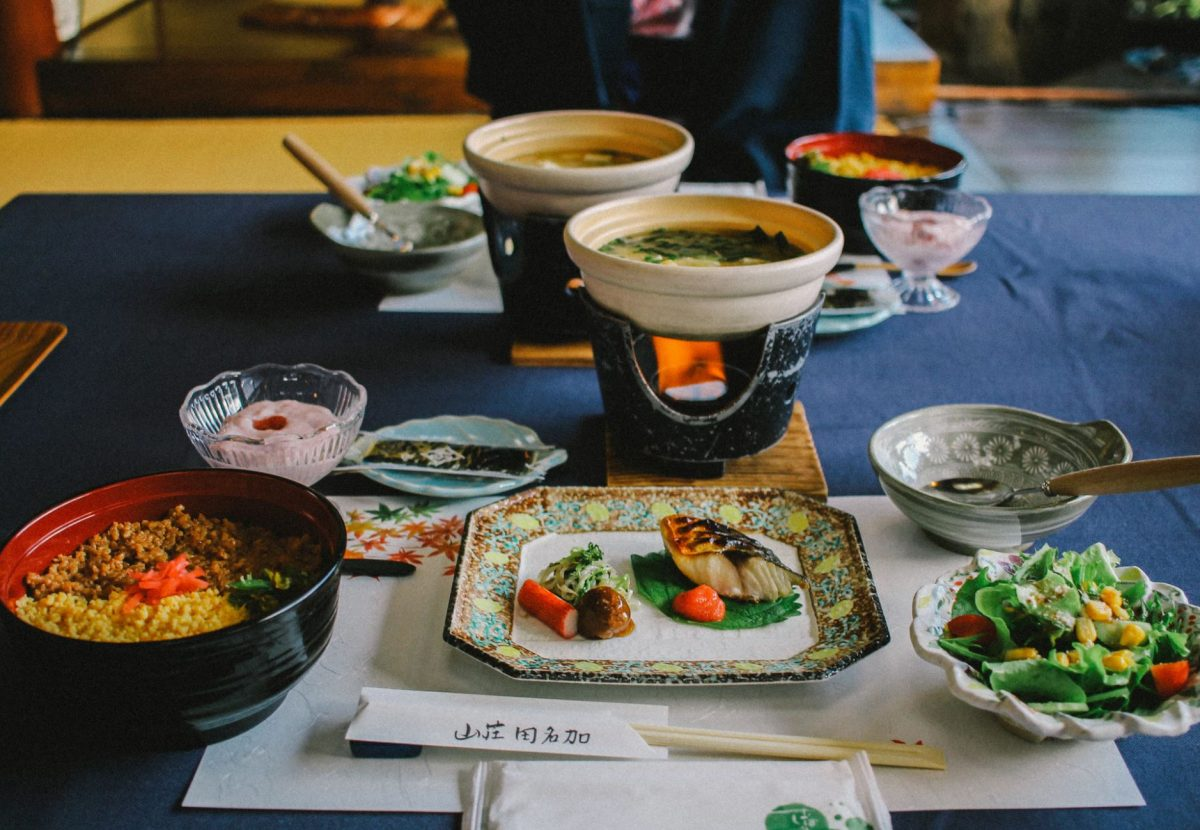 The food in a ryokan inn