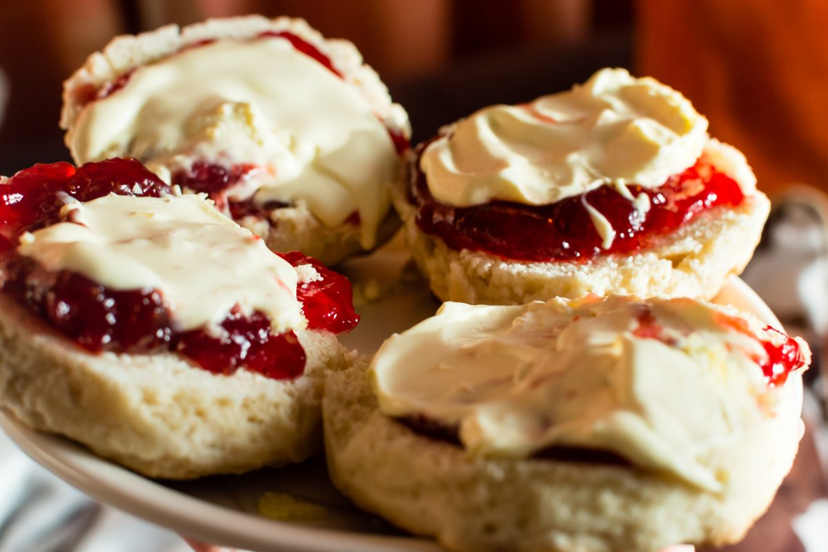 In the smaller Castle View Cafe, the smell of freshly baked scones greets you as you enter the door