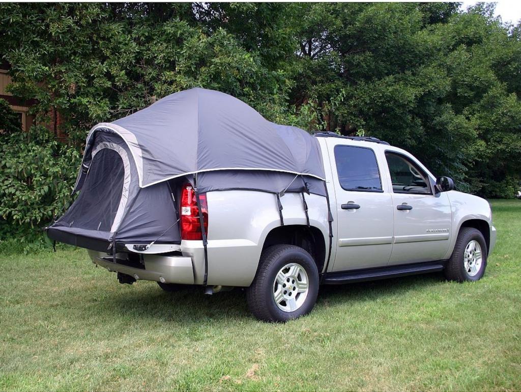 Spacious tents inside trucks
