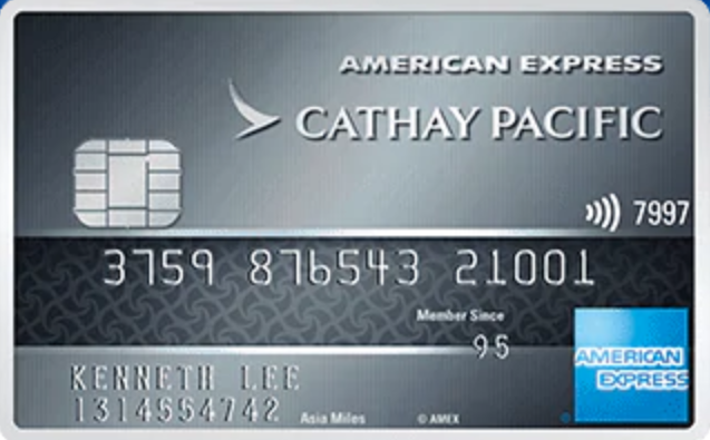 Amex reward credit card cathay pacific