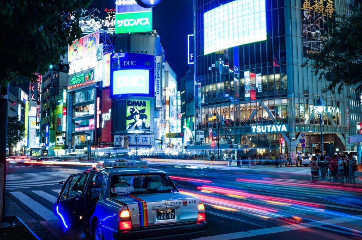 Shopping at Shibuya during the night