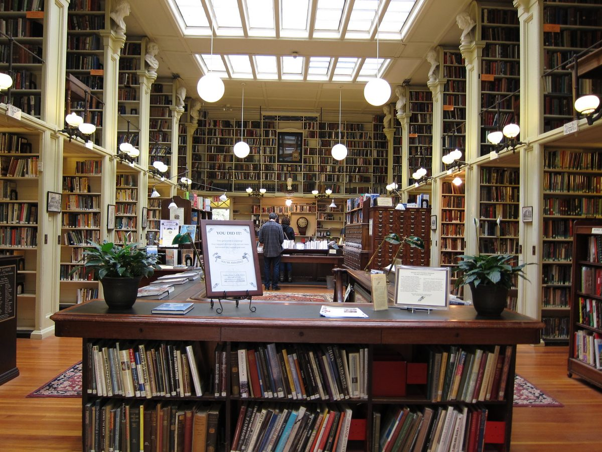 The Athenaeum or simply The Ath, named after the Greek Goddess Athena, was founded in 1836 as a public library.