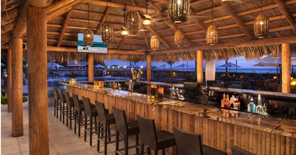 The Tiki Bar is a brilliant place to wind down, relax, meet new people and take in the gorgeous views of the Floridian coastline