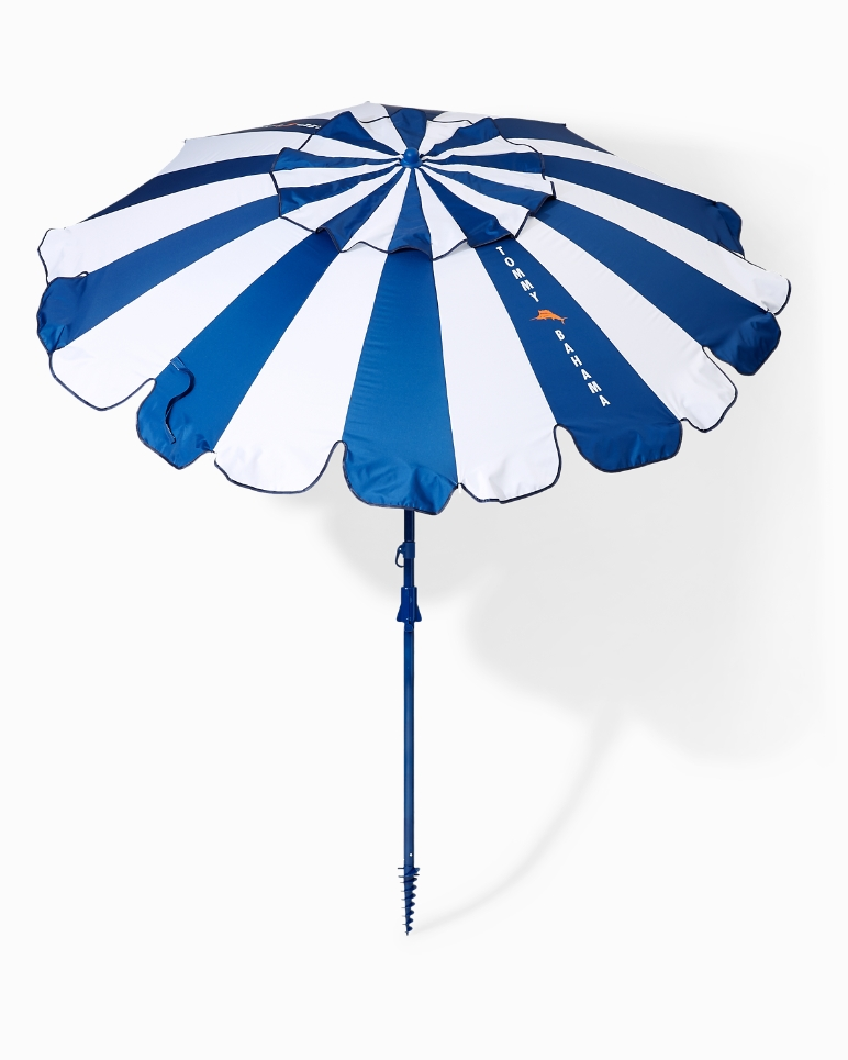 Tommy Bahama Stripe Beach Umbrella, Beach Umbrella