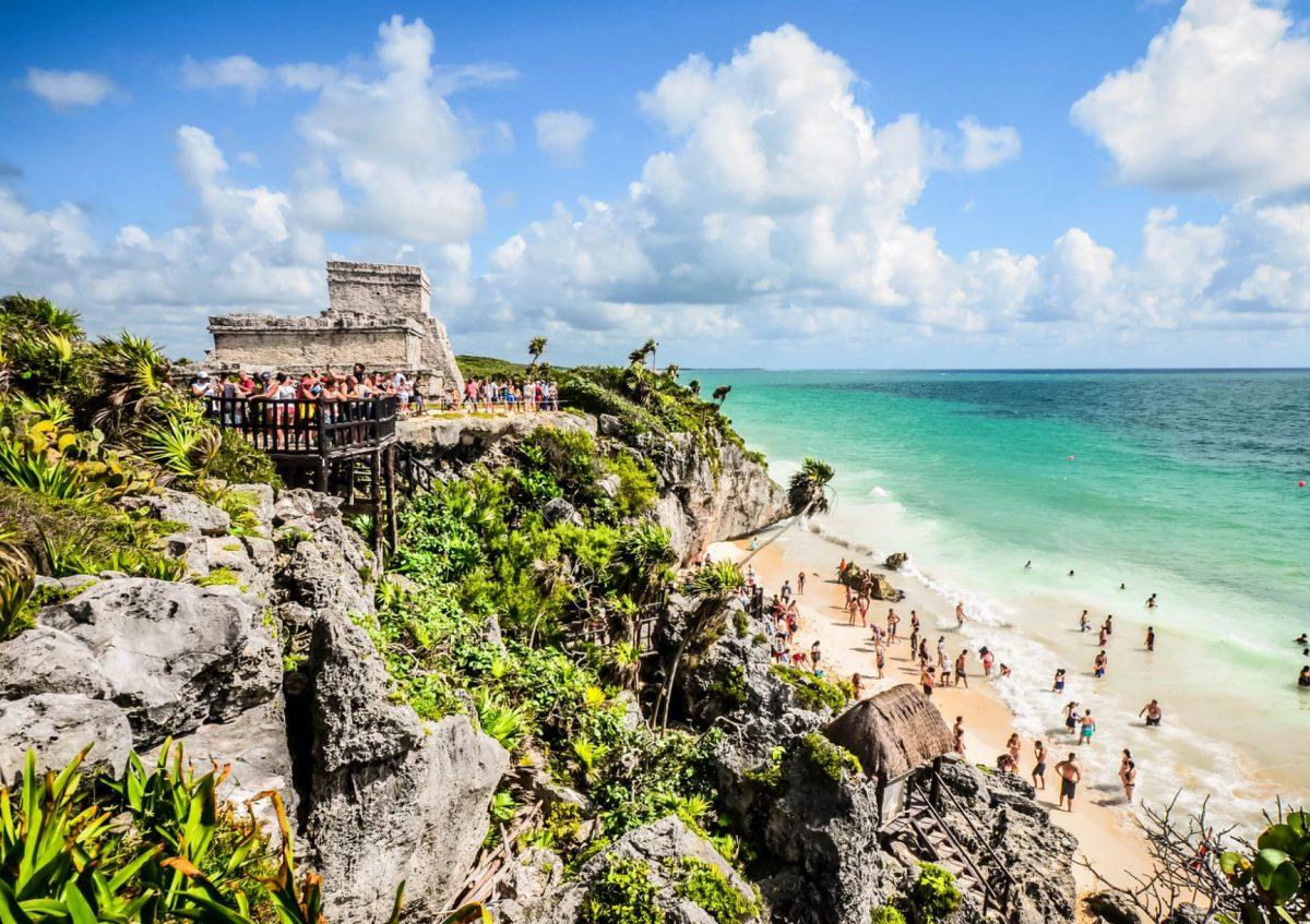 Tulum cliff walk Mexico