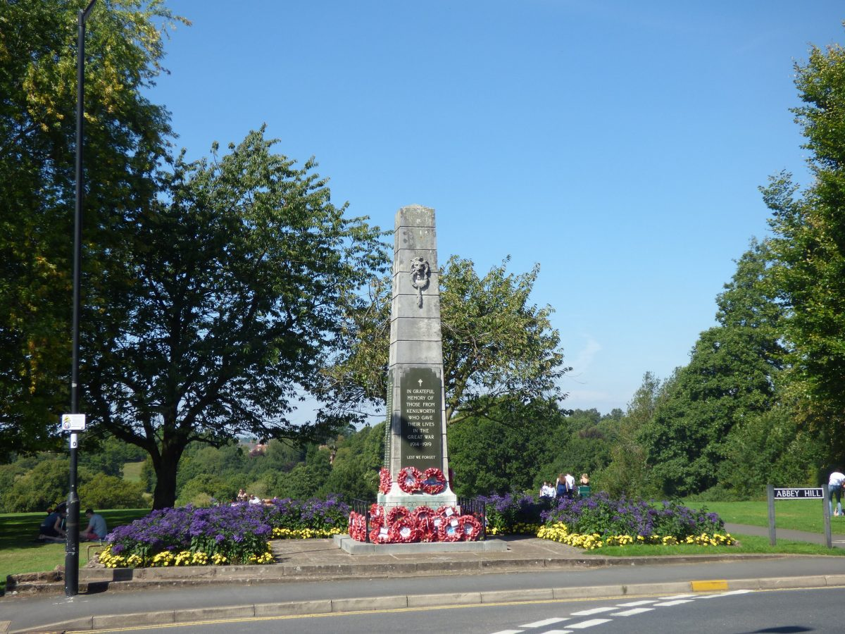 The war memorial at Abbey Fields