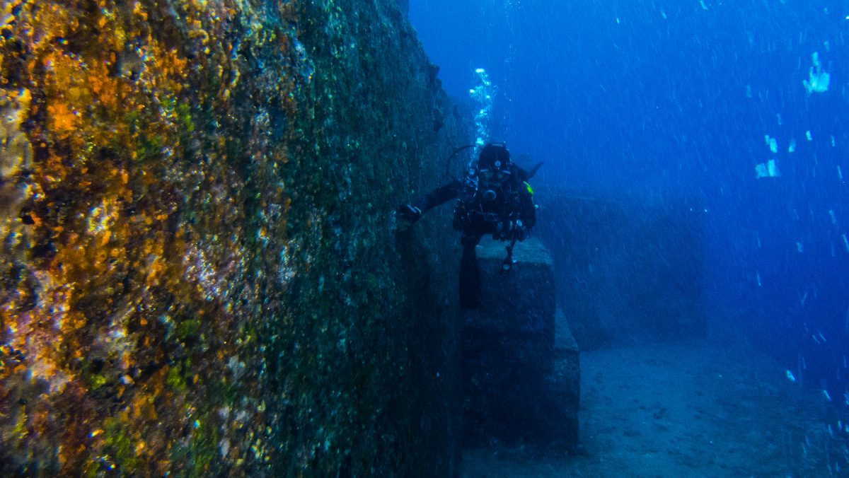 Often called Japan's Atlantis, the Yonaguni Monument are made up of a group of megaliths forming steps and stone pillars.