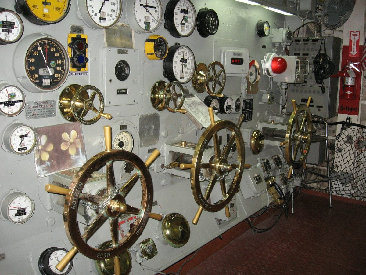 Engine Room on the USS Midway in San Diego