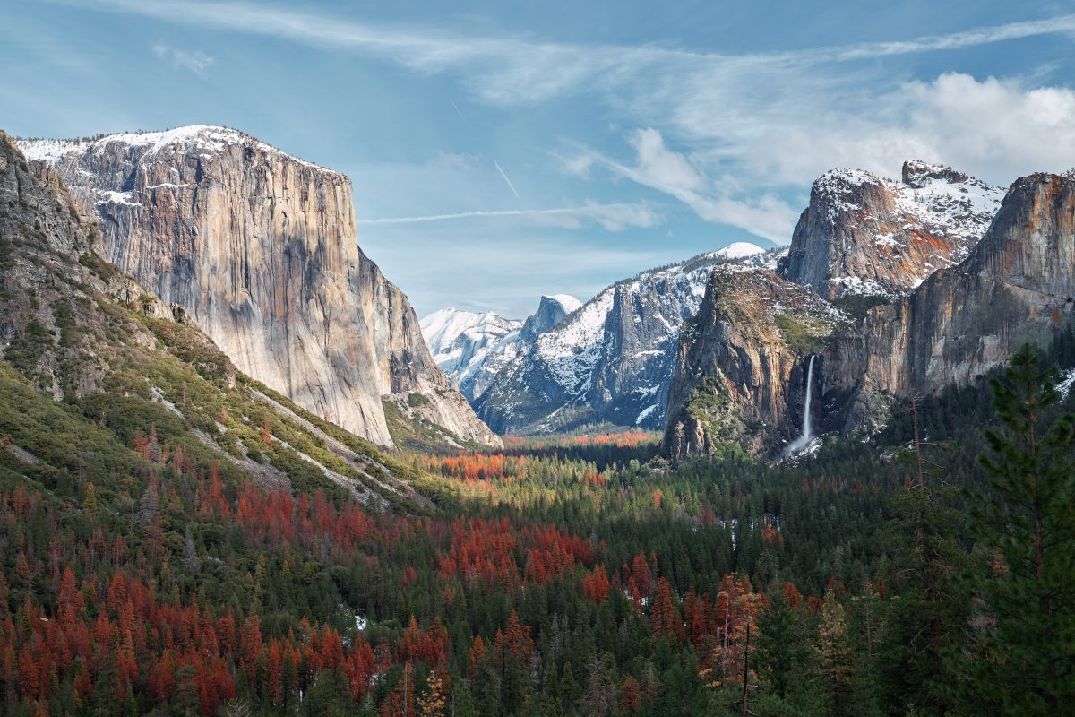 yosemite valley panoramic view