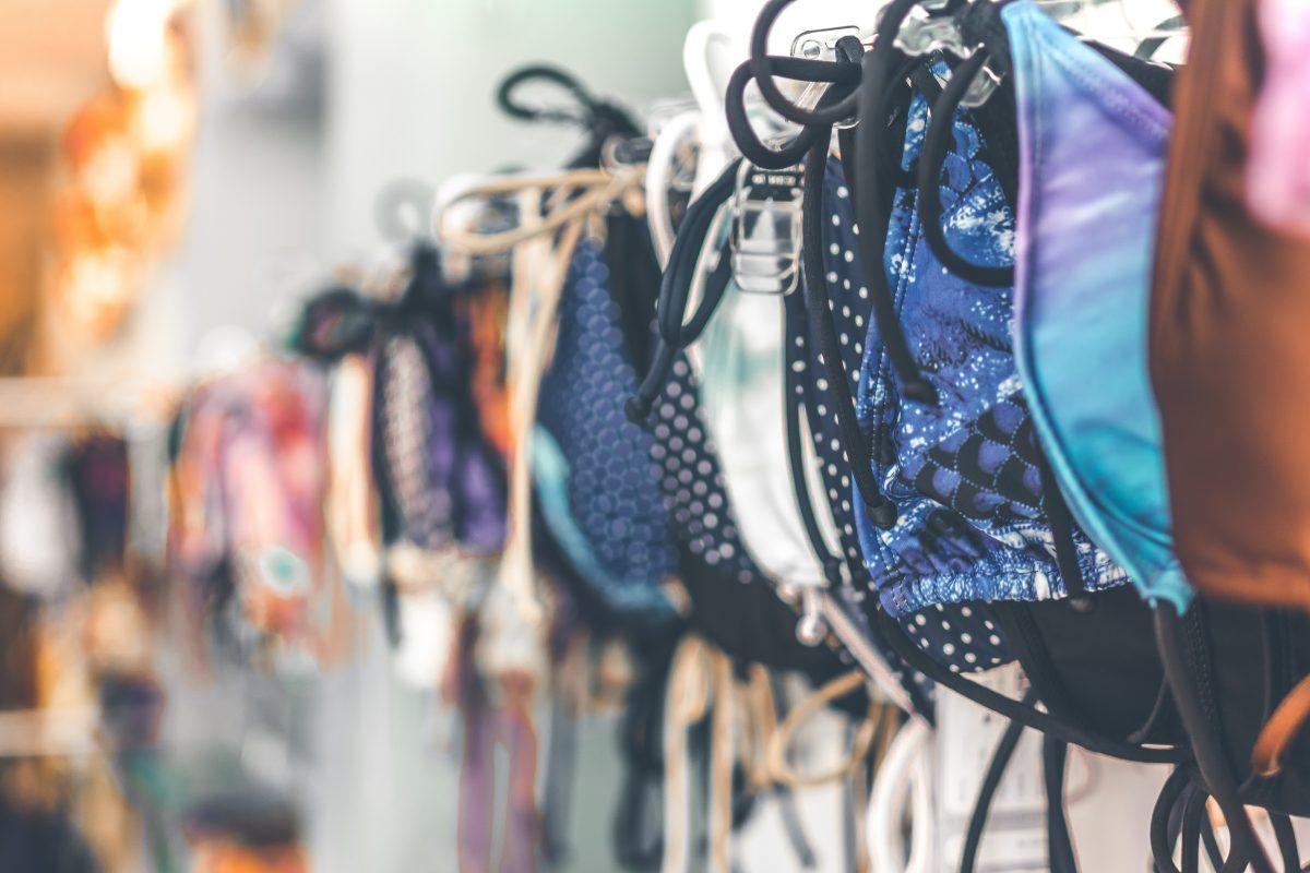 Swim wear shopping in Malibu