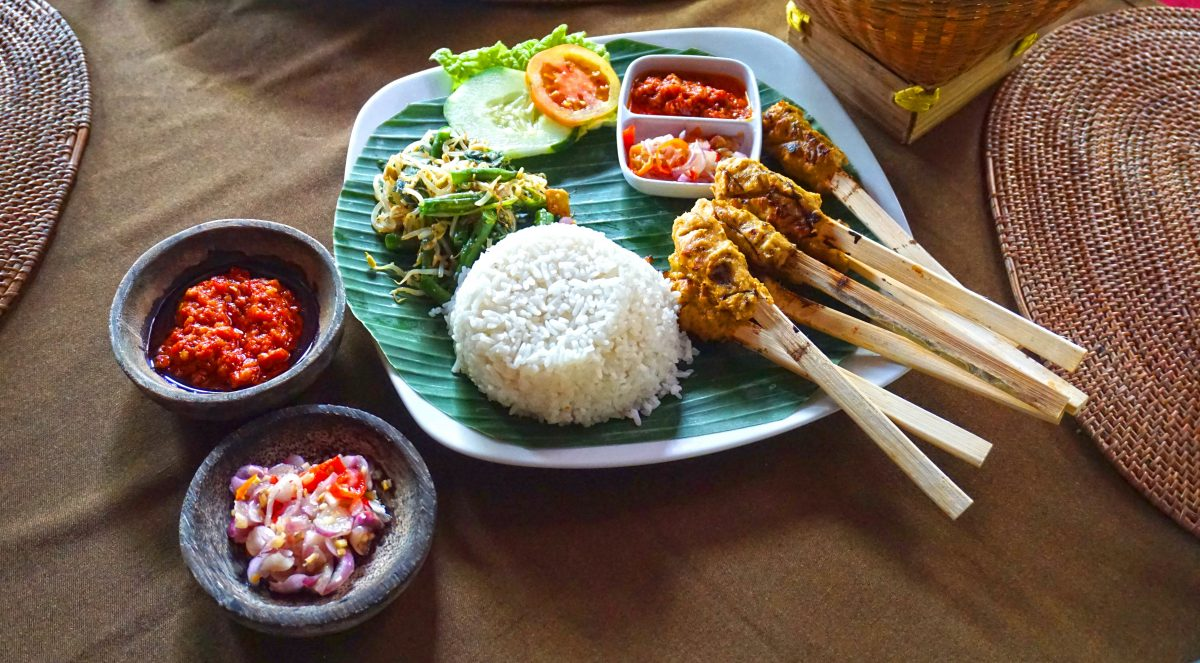 Balinese satay with chili sambal