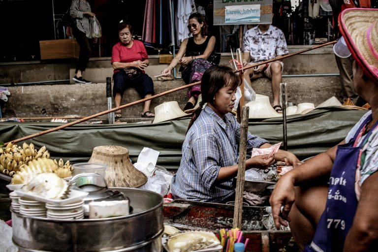 A day in the life of Floating market seller