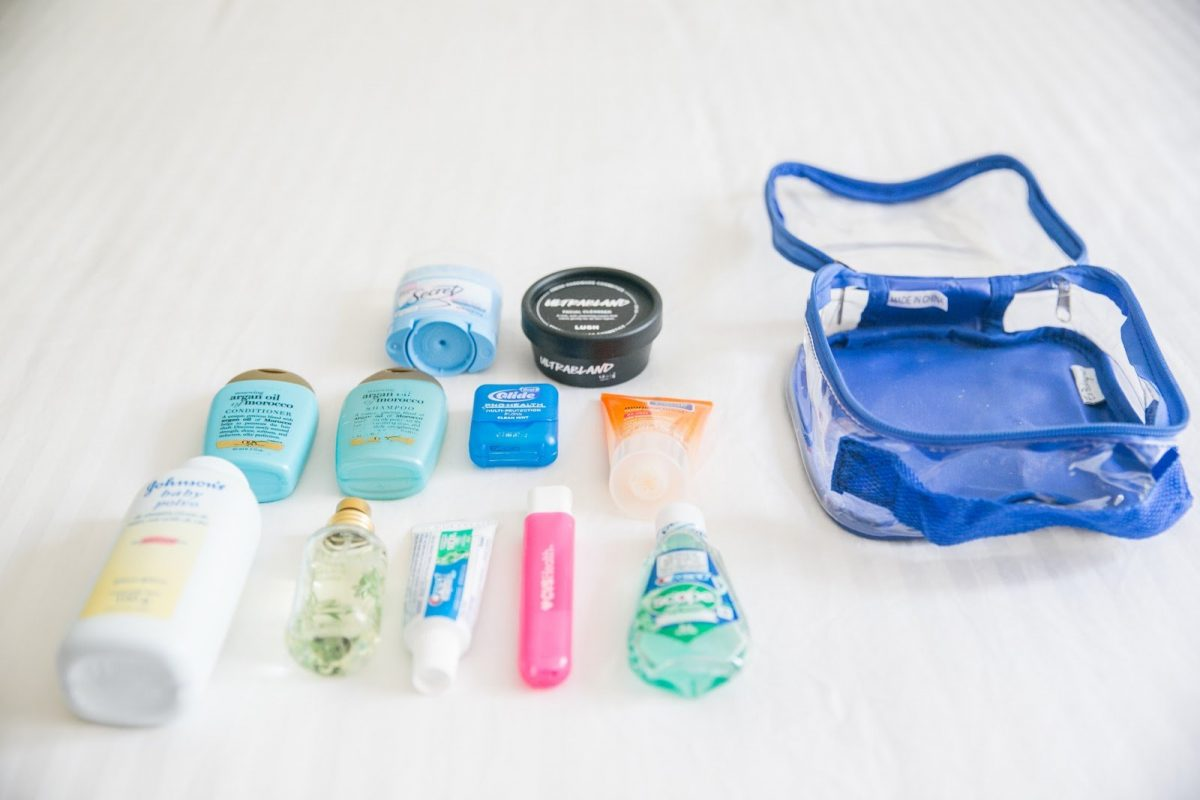 camping toiletries and personal stuff