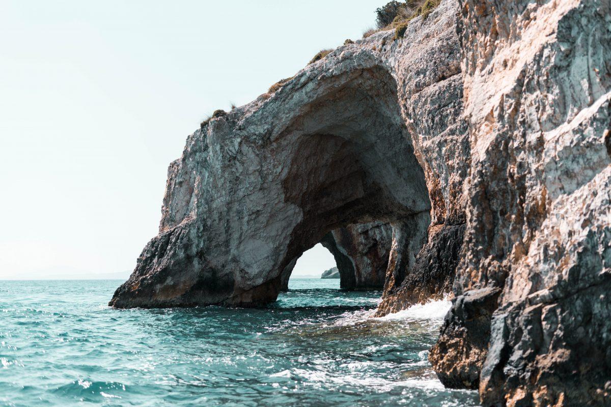 Blue Cave, Navagio Beach, Zakynthos Island, Greece