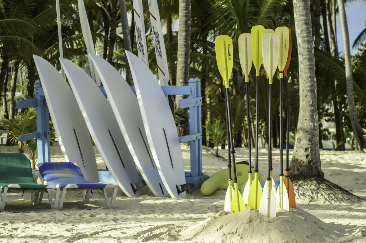 Kayaking board and paddle in Punta Cana