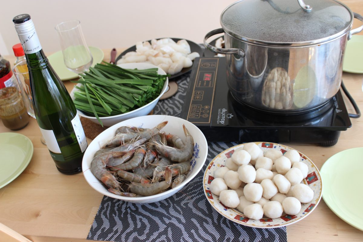 hot pot cooked at home