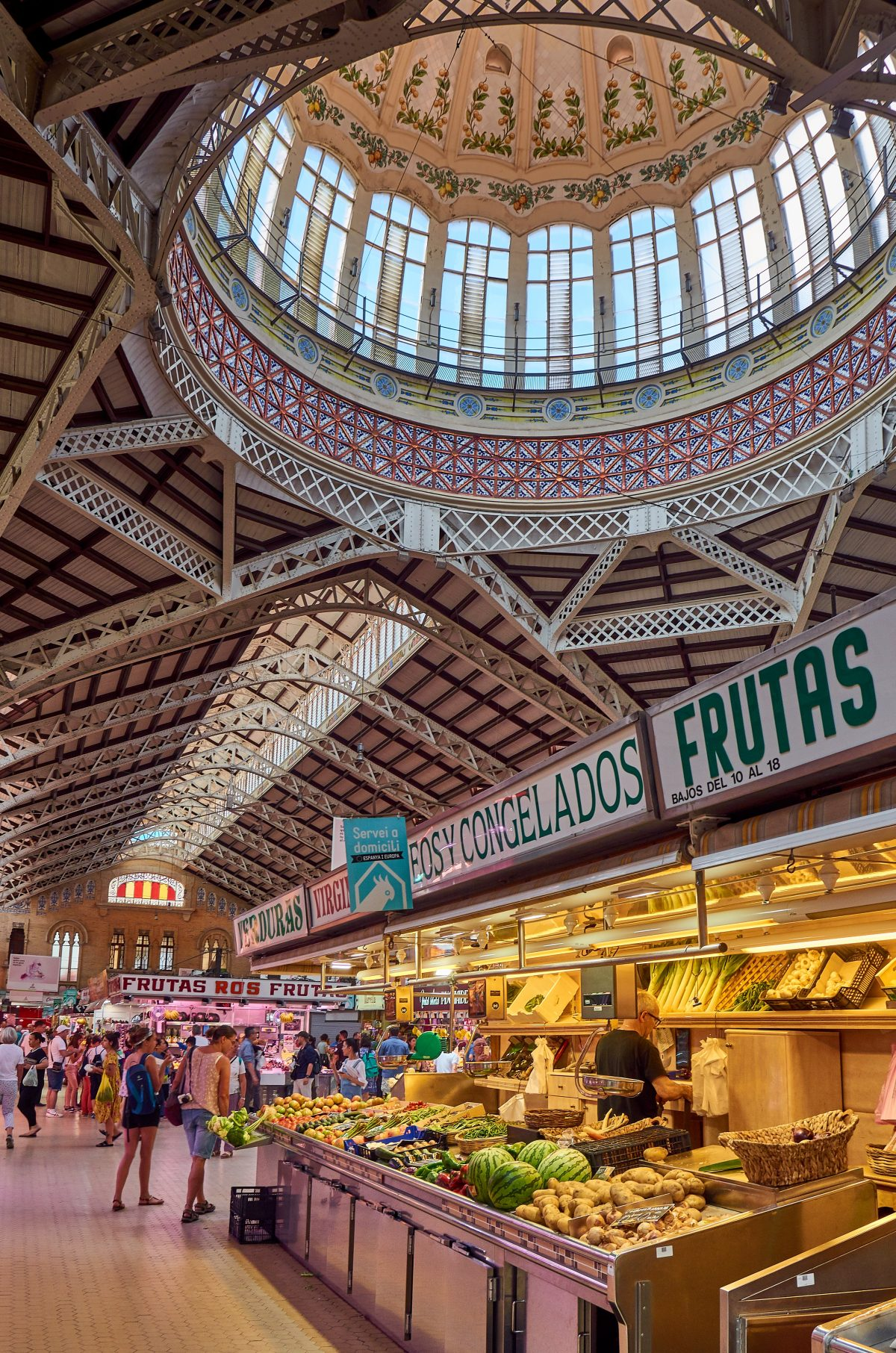 Covered market in Valencia