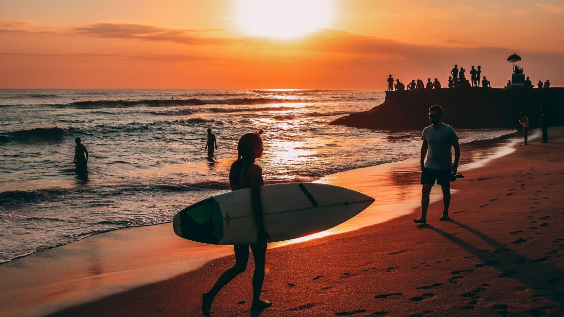 Echo Black sand beach in Bali