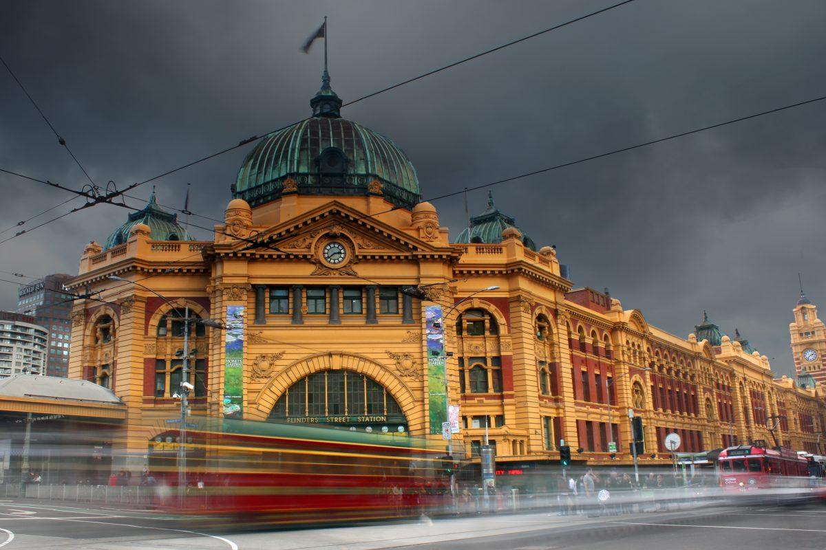 Flinder's street at downtown Melbourne
