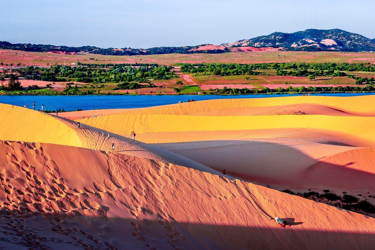 The Red and White Sand Dunes in Mui Ne Beach, Vietnam