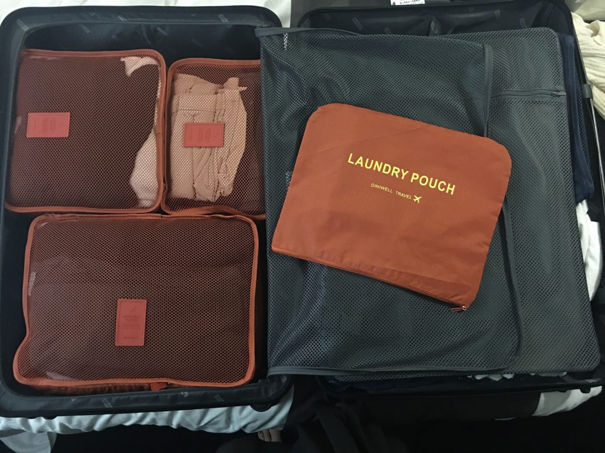 Packing cubes for easy backpacking travels