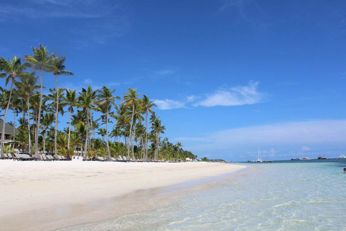 White beach in Punta Cana