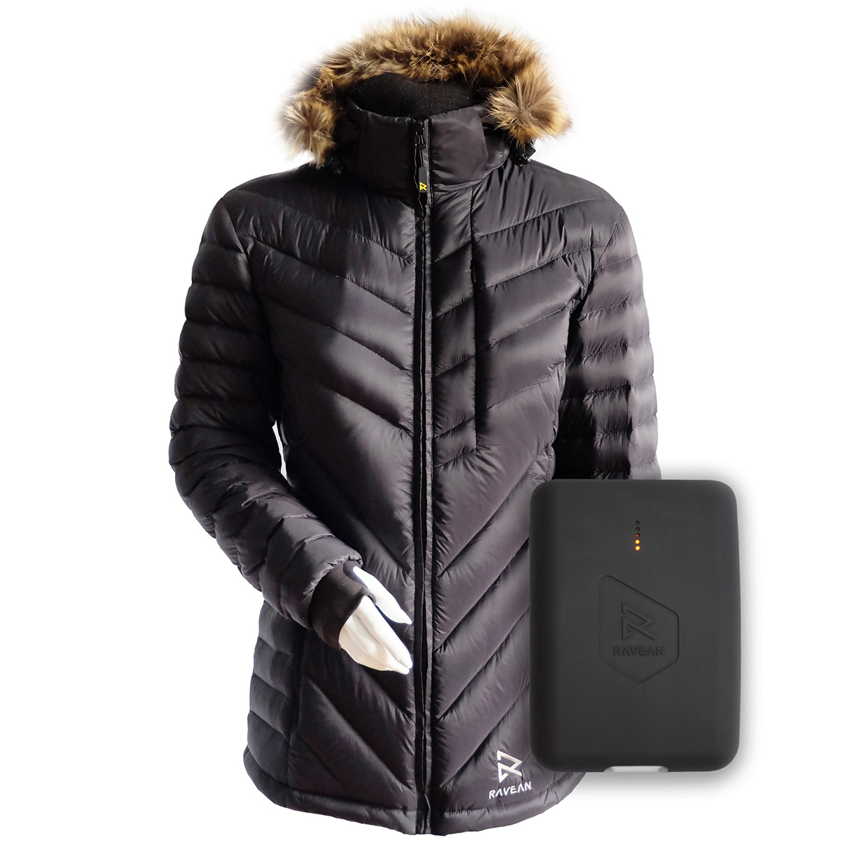 Ravean Women's Down, Heated Jacket