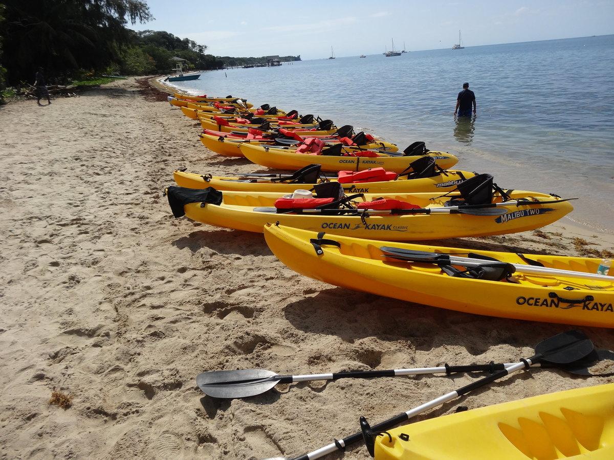 Kayaking, Caribbean Sea, Roatán Honduras