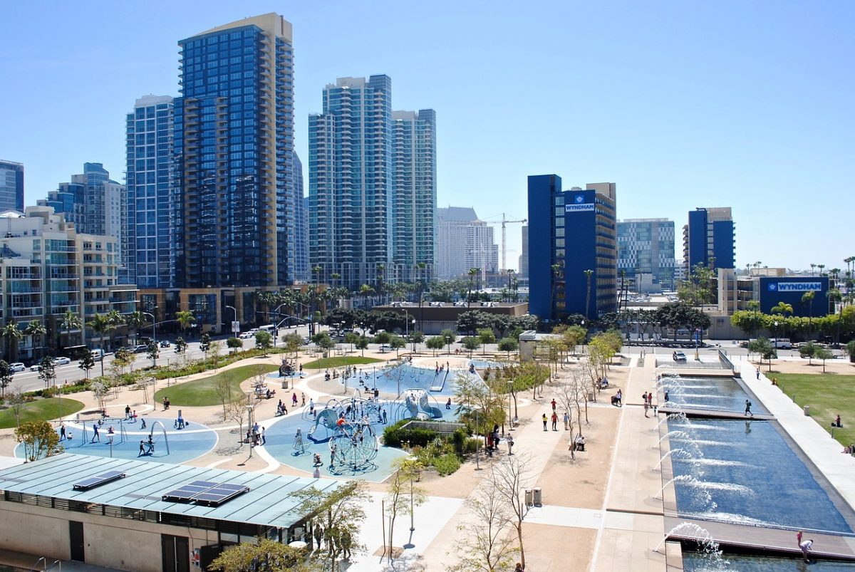 San Diego's Embarcadero water front