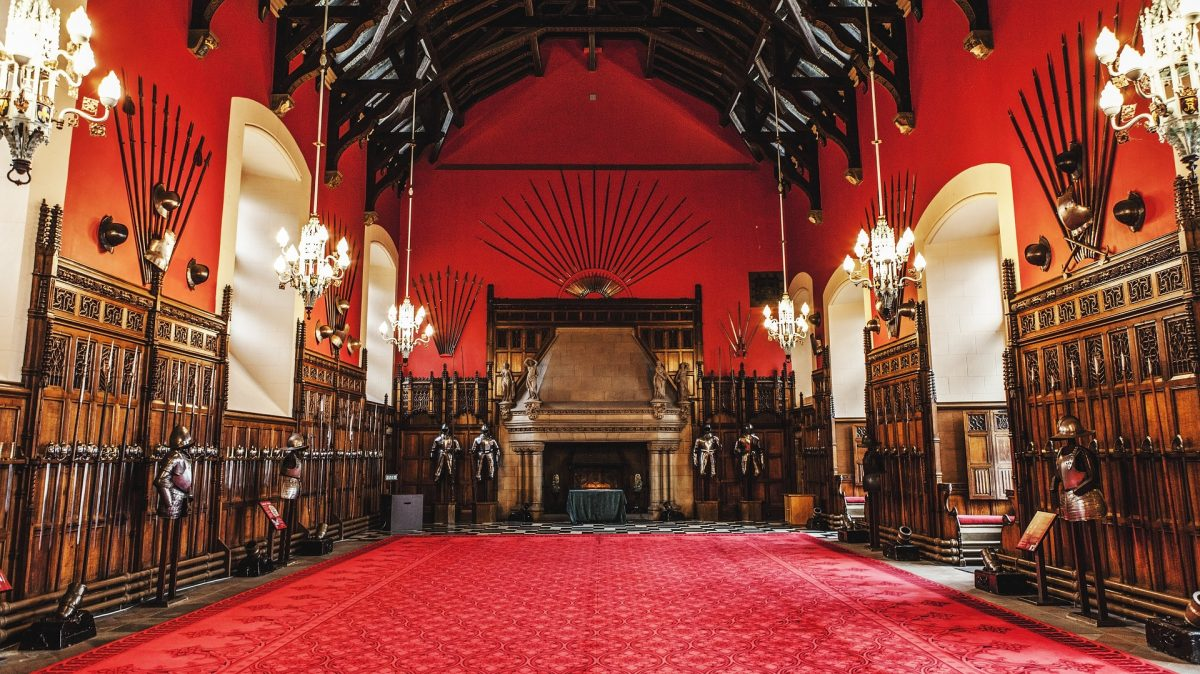 The Great Hall at Edinburgh Castle.