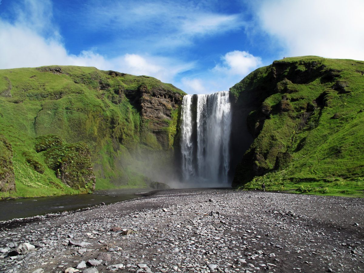 Iceland's Beautiful Waterfall