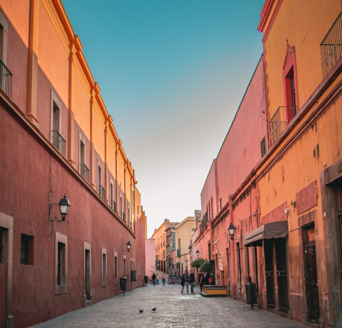 Old street in historical city of Queretora