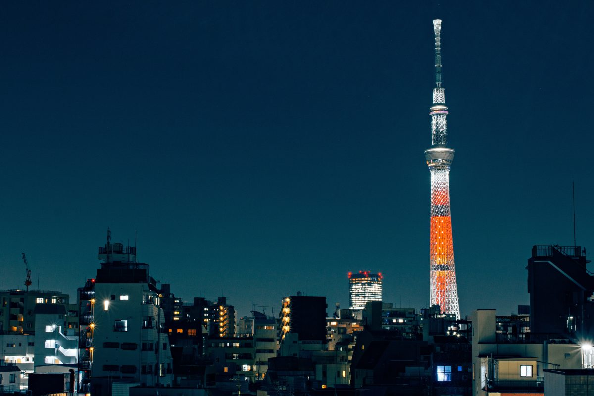 The Tokyo Skytree has amazing views of Tokyo at night