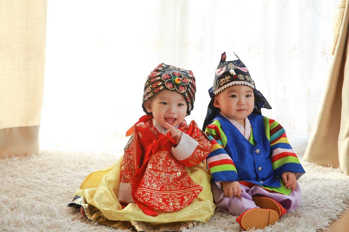 Hanbok, Korea, babies