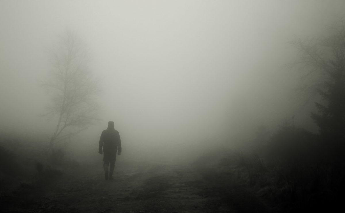 Man walking in the shadow