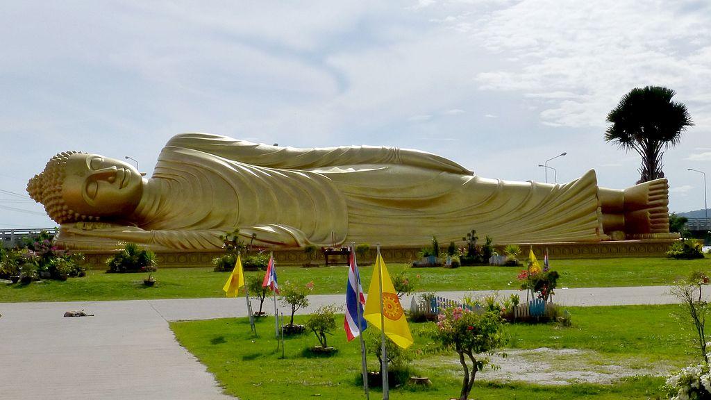 Reclining Buddha Statue, Wat Phranon Laem Pho, Songkhla, Ko Yo Island