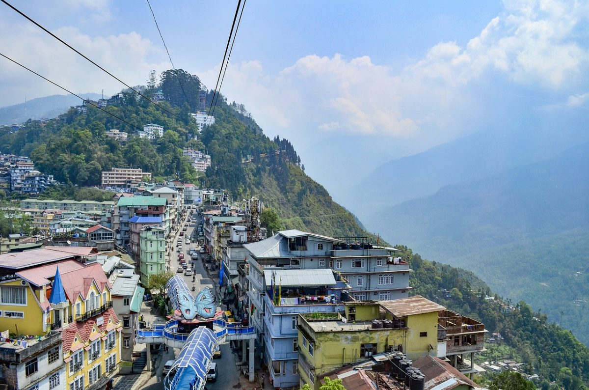 Arial view of Gangtok