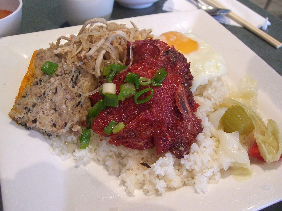 broken rice, vietnamese food
