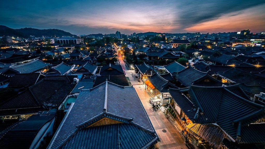 Jeonju at night, South Korea