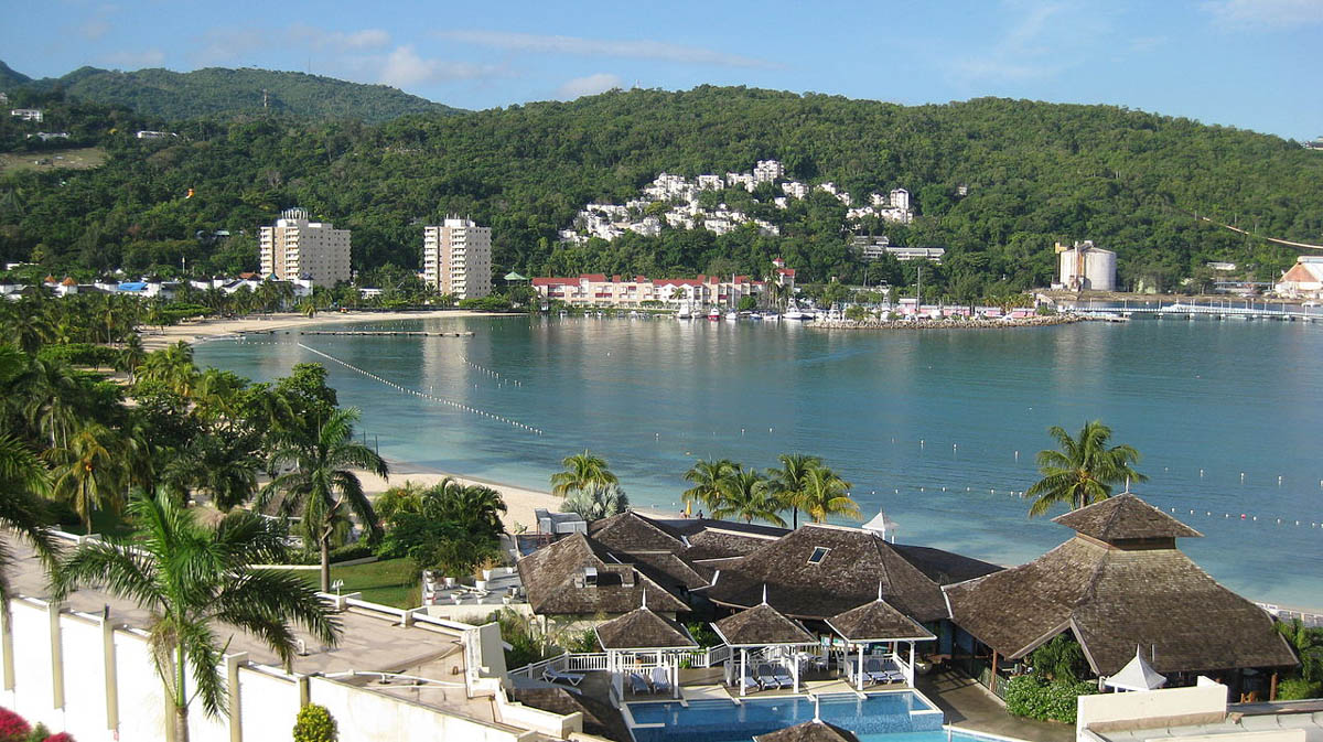 a beautiful shot of the town of Ocho Rios