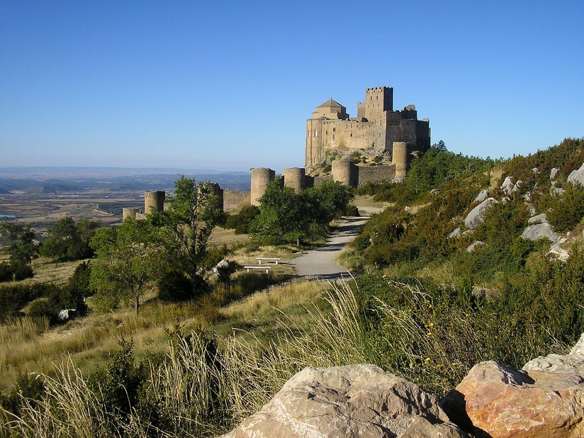 Castillo de Loarre is a Romanesque Castle and Abbey in the province of Huesca, in Northern Spain, and one of the oldest castles in the country.